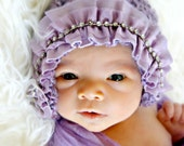 Couture purple newborn hat photo prop must have