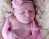 1 pink 2 inch alpaca wool baby headband professional photography prop