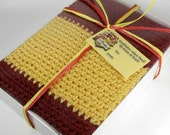 Harry Potter Inspired Gryffindor Hogwarts Crocheted Red And Gold Winter Scarf