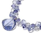 SWEET VIOLETS Swarovski Crystal Provence Lavender Twist Bead 14K Gold Filled High Fashion Modern Necklace