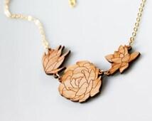 Succulent Necklace - Garden Trio