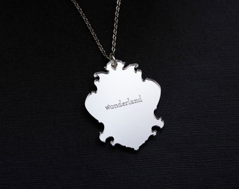 Alice in Wonderland Vintage Mirror Necklace
