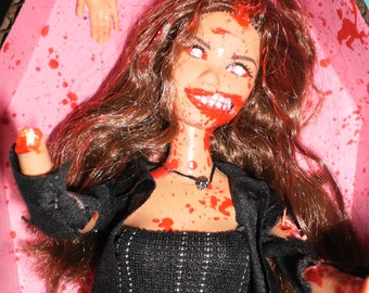 Zombie Barbie with Fresh Glistening Flesh Wounds- Custom
