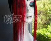 Devilish Red Two Tone Human Hair Clip In Side Fringe Set