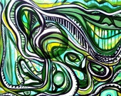 Green Dream - 18 x 24 inch original acrylic painting by Larry Calabrese