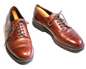 Vintage Mens US 10 H S Trask Autumn Brown Casual Lace Up Shoes/Boots