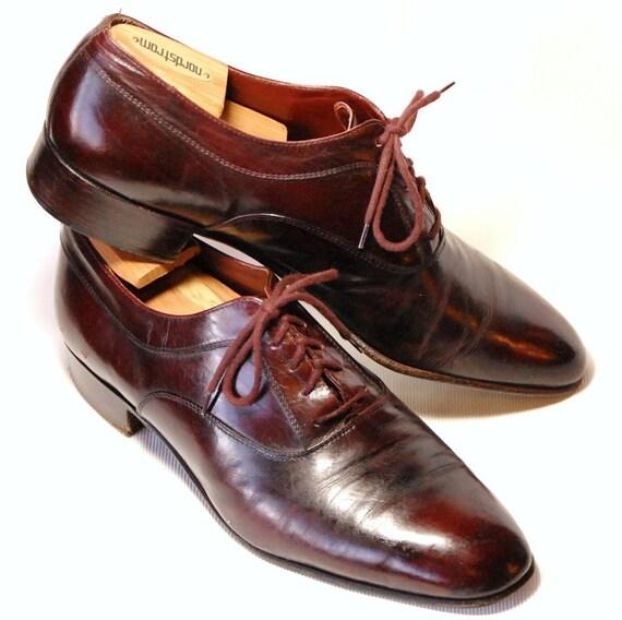 Sleek Vintage Handmade Italian Leather Mario Bruni Lace Up