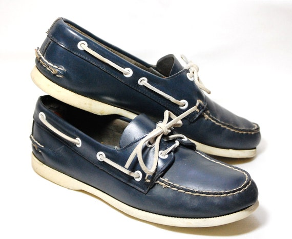 Blue Sperry Topsiders Deck/Boat Shoes Mens 7 1/2 Womens 9