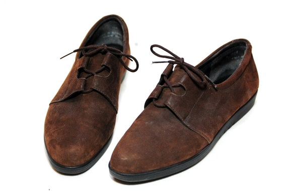 Brown Leather Lace Up Rockport Shoes Womens US 8 1/2