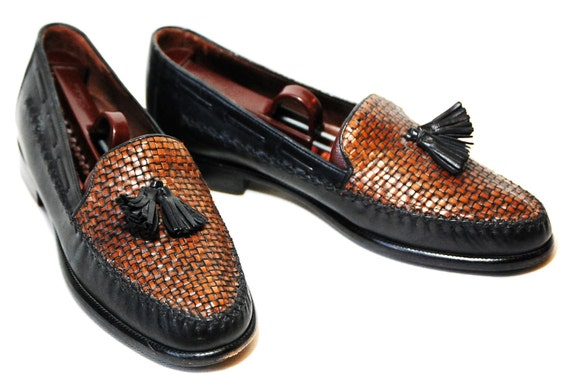 Womens US 8 Woven Slip-On Cole Haan Loafers With Frill