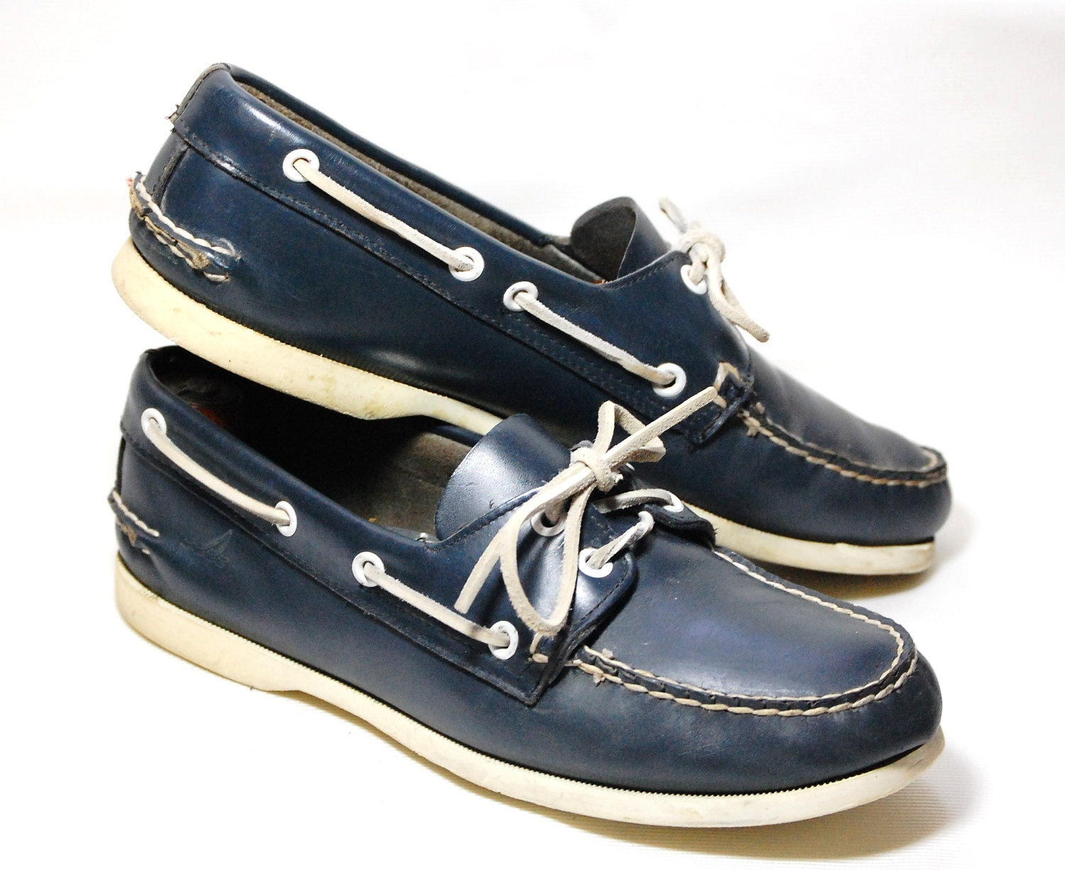 Navy Blue Sperry Topsiders Deck/Boat Shoes Mens 7 1/2 Womens 9