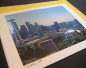 Seattle Skyline - Blank Greeting Cards