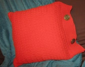 Upcycled Cable-knit Pillow