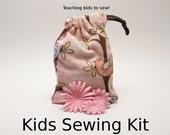 Kids Sewing Kit - Jewelry Pouch - Birdies