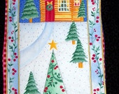 Hand quilted wall hanging Winter