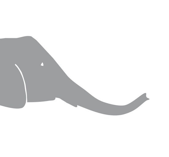Large Elephant Wall Decal Rudi, 16 1/2 in x 30 7/10 in - 42 x 78 cm - Elephant Kids Decal - Kid Nursery Decal - Children Decal