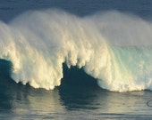Hawaii Wave breaking at Jaws Maui - Christmas morning '09 - 35' beauty - Great for any wall in your home or office - FREE SHIPPING