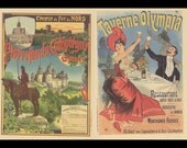 French Poster Art, Paris Northern Railroad Line, And Paris Olympia Tavern Restaurant