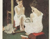 Norman Rockwell, Girl At The Mirror, Looking Photo Older Woman, Post Magazine Cover, USA, America's Painter, The Family Of 50's 60's 70's