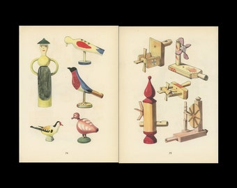 Toy Birds And Wind Toys Antique Toy Print Illustrated By Emanuel Hercik