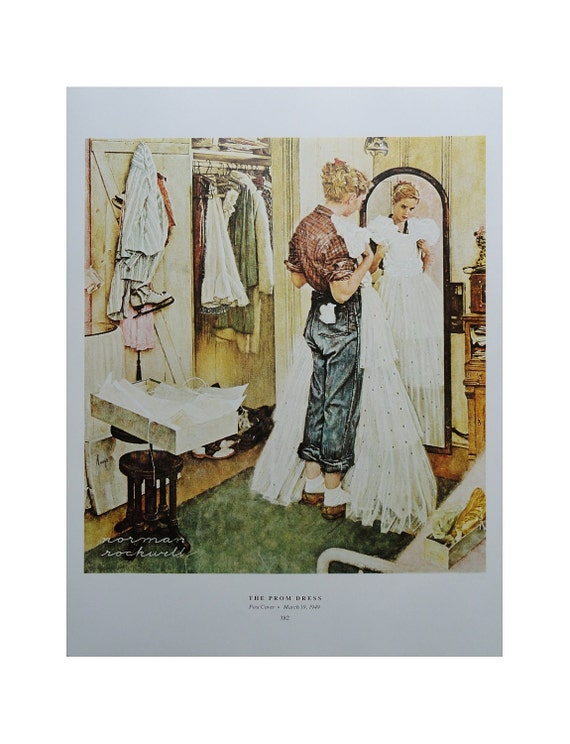Norman Rockwell Poster, The Prom Dress And Homecoming, Young Lady Sparkle White Mirror Jeans, Welcome Home Soldier, Post Magazine Cover