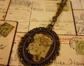 Steampunk Watch Parts Frame Pendant/Necklace