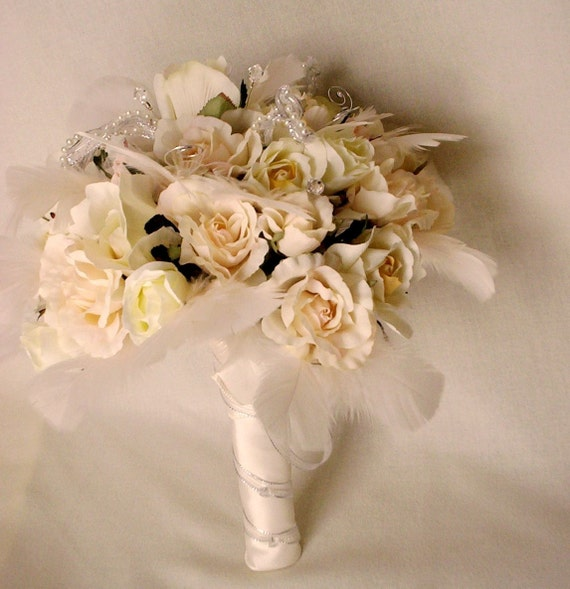 Wedding Bouquet Packages Silk : Silk bridal bouquet wedding flower package by