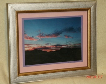Arizona Sunset photo  10 by 12 inches including frame