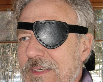 Leather Eye Patch Steampunk Black Eyepatch Pirate Cosplay