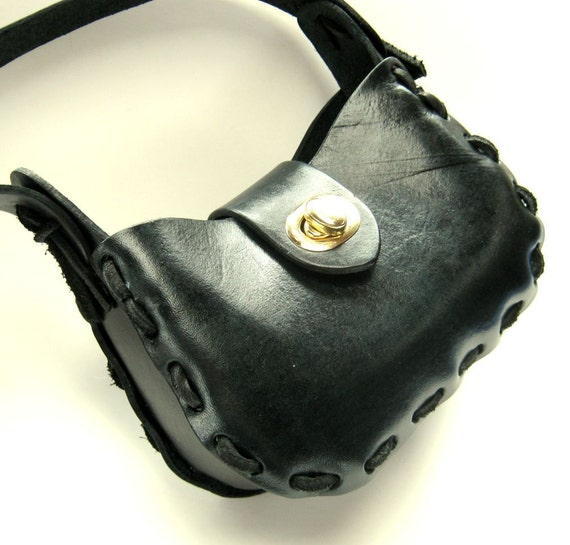 Elegant Black Purse Small Leather Purse Black