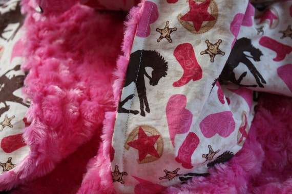 TODDLER COWGIRL BLANKET-Large