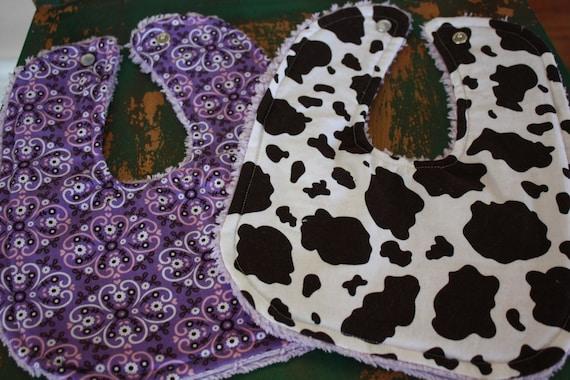 COWGIRL 2 PIECE Western Bib Set-Pony And Purple Bandana