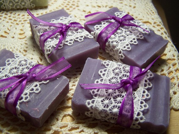 Homemade Wedding Shower Gifts: 50 Wedding Favors Soaps Mini Soaps Lilac Shea Butter