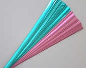 Light Blue and Pink Foil : Lucky Stars Paper Strips (100)