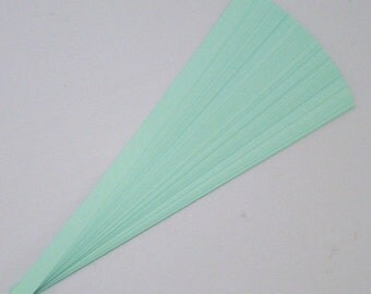 Light Green : Lucky Stars Paper Strips (100)