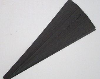 Matte Black : Lucky Stars Paper Strips (100)