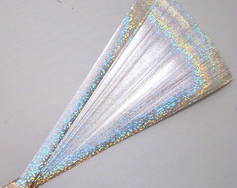 Holographic Sparkle Silver: Lucky Stars Paper Strips (100)