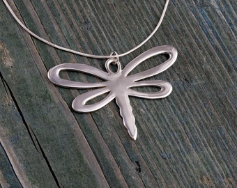 Reversible Dragonfly, -handmade-, Sterling Silver