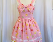 SAMPLE PIECE Queen's Candy Jumper Skirt in Pink Set with Headbow