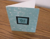 SALE - Pastel Green Thank You Card with envelope