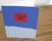 SALE - Blue Thank You Card with Envelope