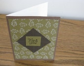 Brown Thank You Card with Envelope