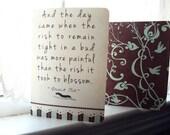 Anais Nin Journal Set- Blossom Quote - 2 Journals