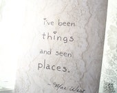 Mae West Journal - Been Things and Seen Places