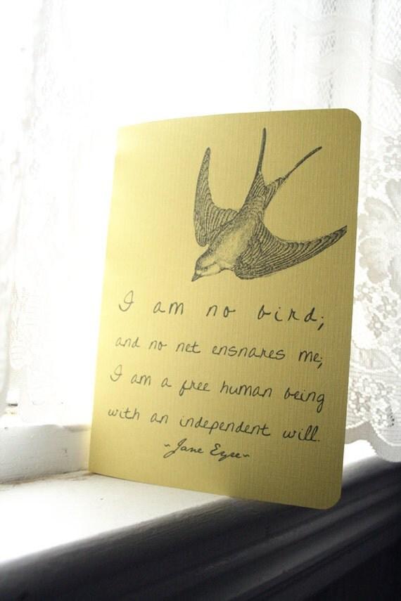 Jane Eyre Bird Quote Journal