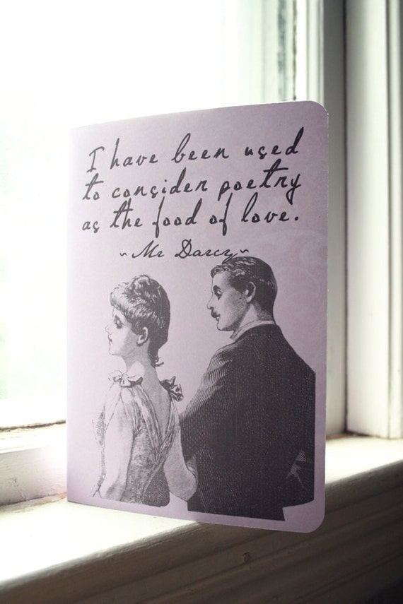 Mr Darcy Quote Journal - Poetry is the Fruit of Love