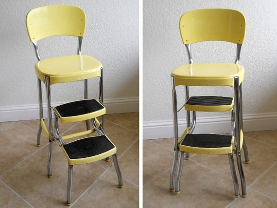 Reserved Vintage Cosco Stylaire Yellow Stepstool