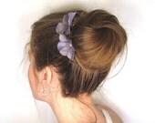 Flower Hair Pins Gray, Hydrangea Prom Flower Hair Accessories