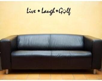 Live Laugh Golf Wall Art