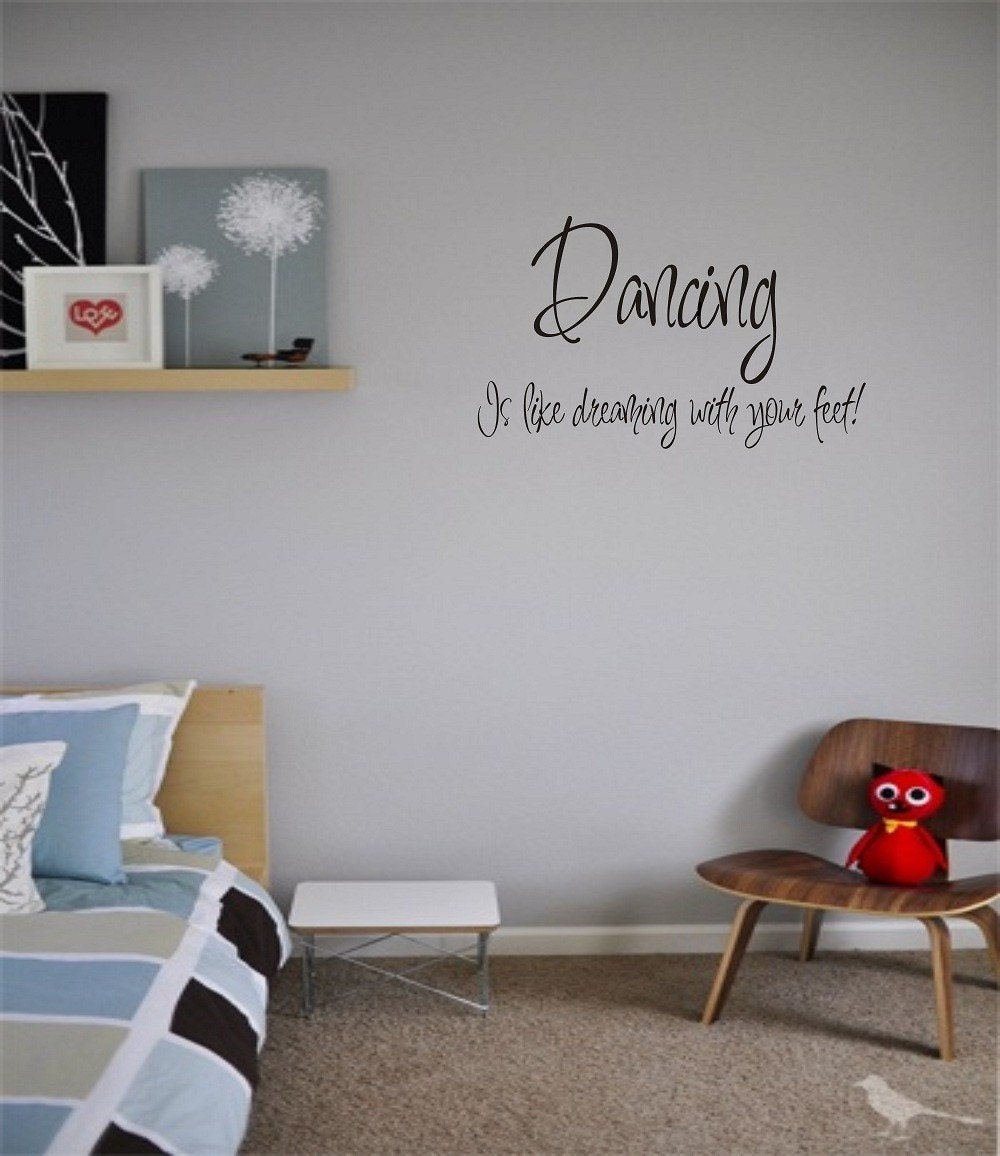 Wall Art Dancing Dance Home Decor Vinyl Stickers Letters Love - Custom vinyl wall decals dance